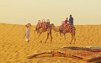 Cưỡi lạc đà trên sa mạc Safari
