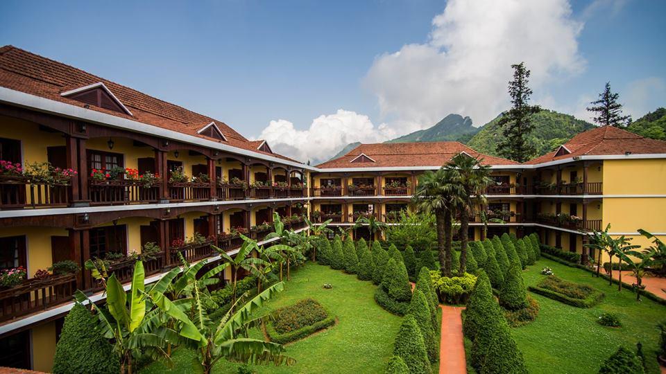 Khuôn viên rất rộng và xanh của Victoria Sapa Resort & Spa