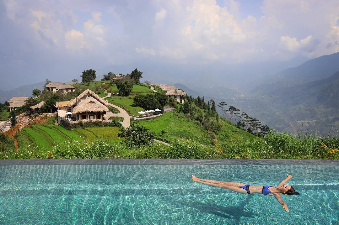 Hồ bơi Topas Ecolodge rất nổi tiếng trên mạng xã hội