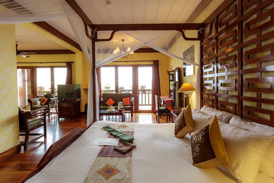 Phòng nghỉ sang chảnh ở Victoria Sapa Resort & Spa