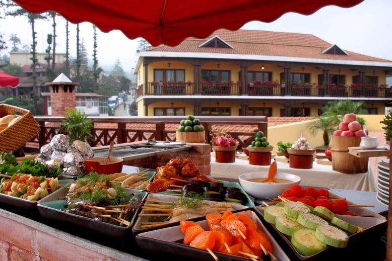 Đồ ăn ngon và đẹp mắt ở Victoria Sapa Resort & Spa
