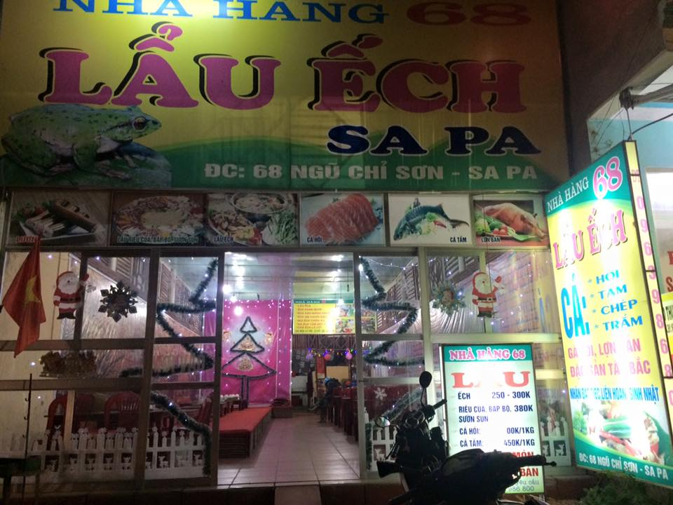 Nhà hàng 68 chuyên lẩu ếch siêu nổi tiếng ở Sapa